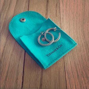 Tiffany & Co sterling silver hoop earrings